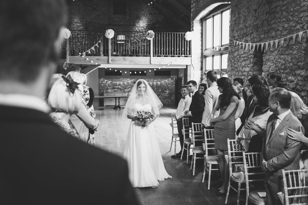 Wedding ceremony at Priston Mill