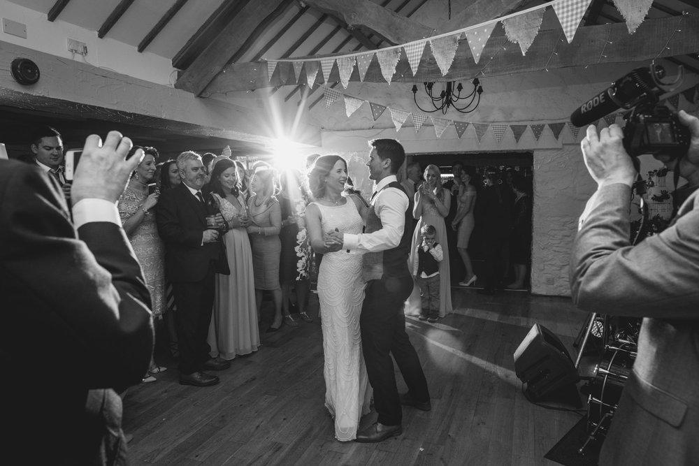 First dance being filmed