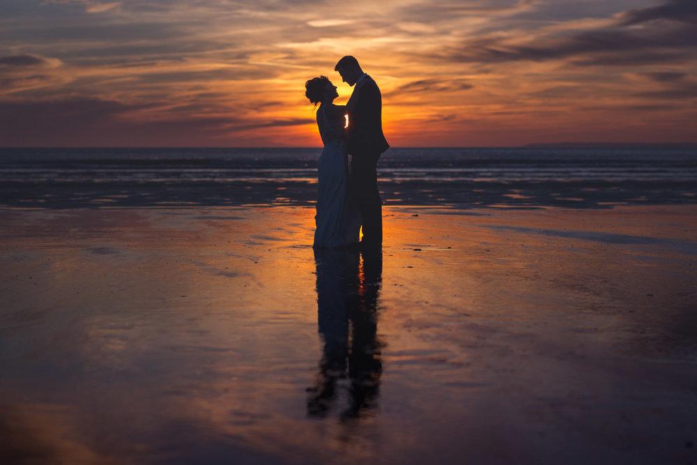 Wedding sunset in Devon