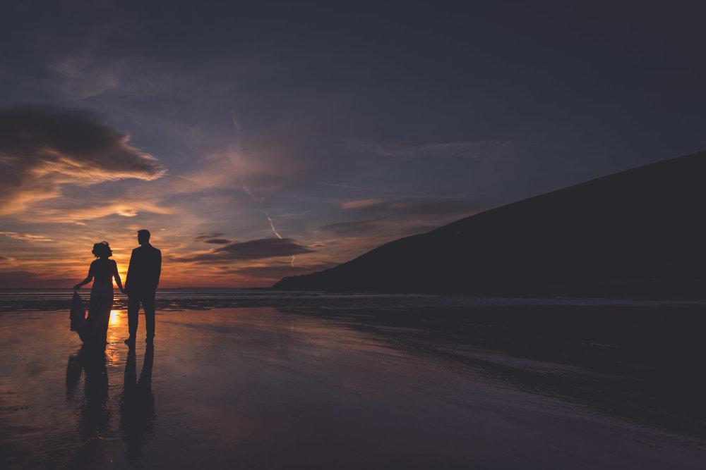 Saunton Sands wedding photography at sunset