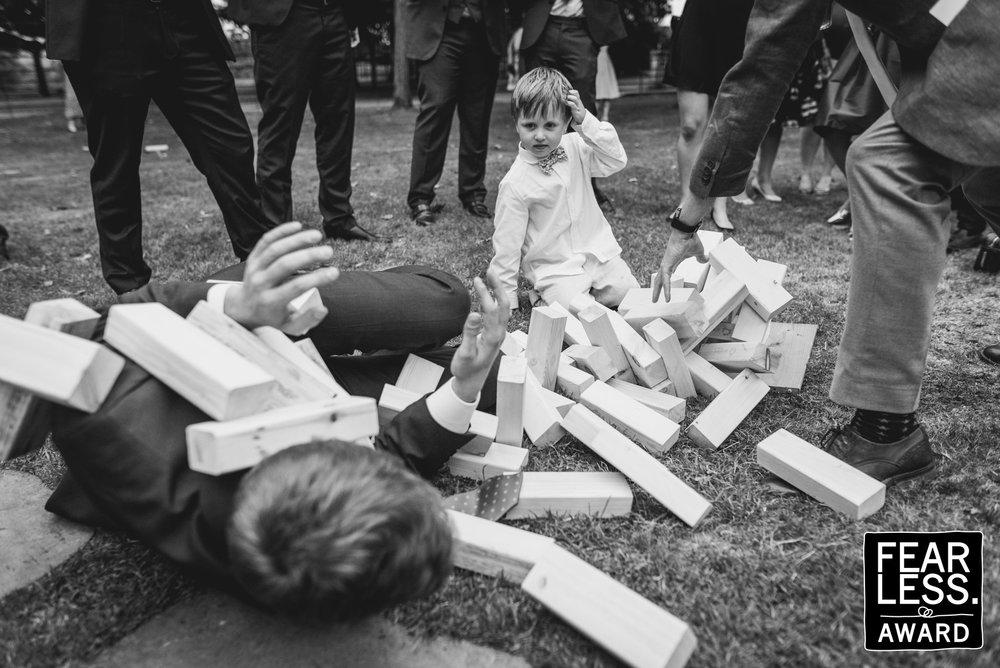 Wedding garden games at Bridwell