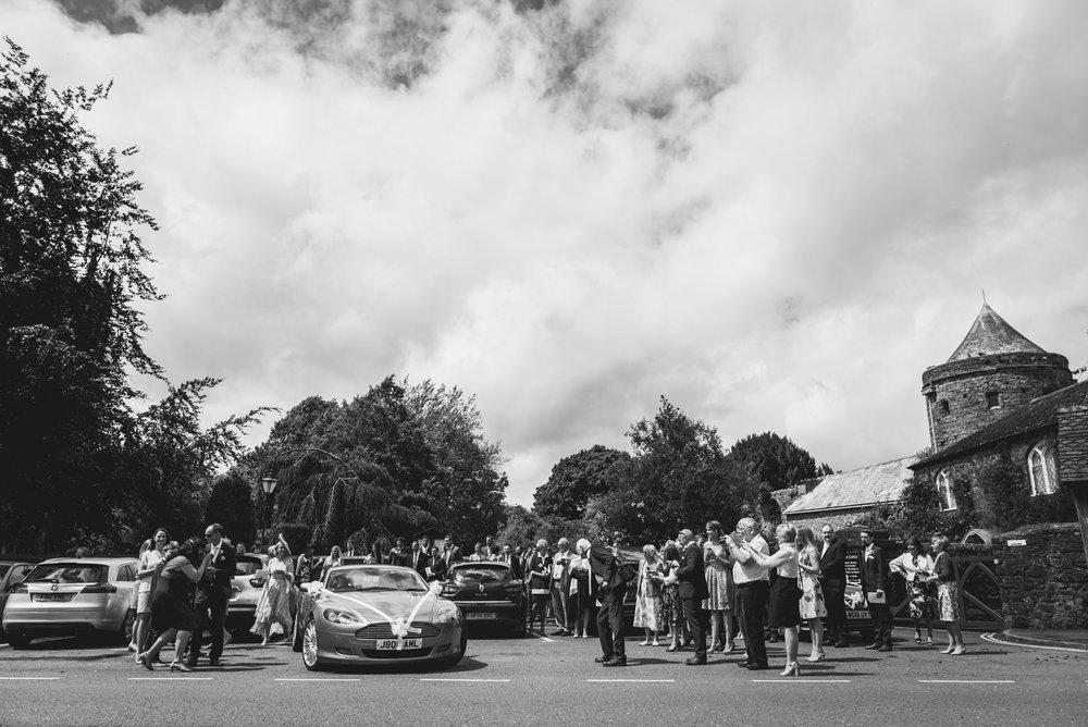 Aston Martin at church