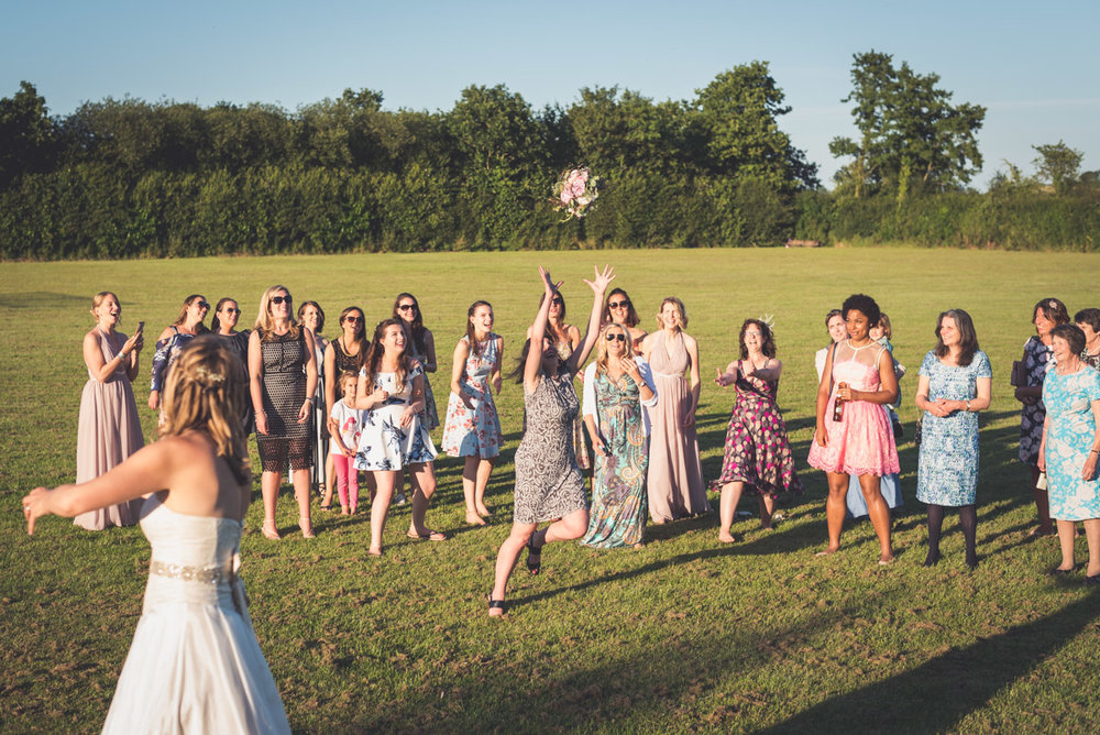 Throwing the bouquet 2