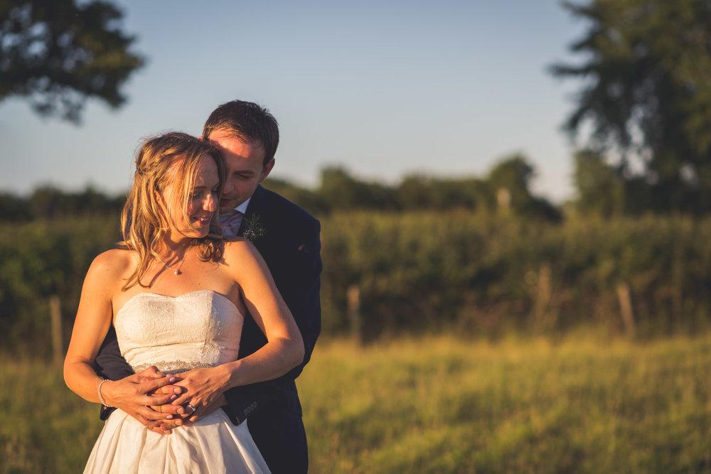 Wedding portrait in the sun