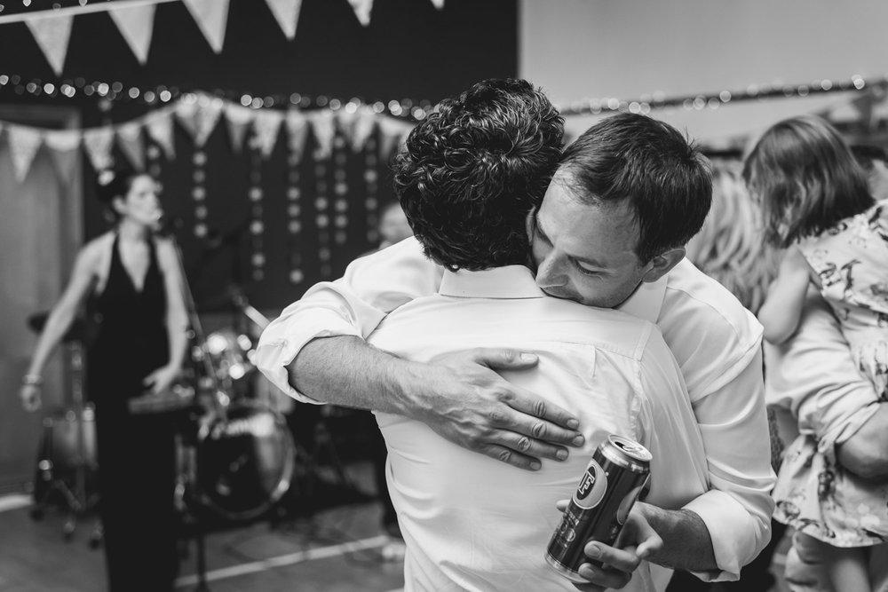 Groom hug