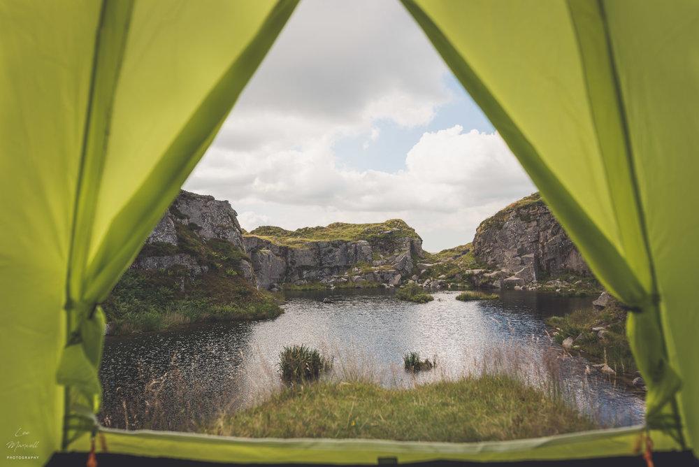 Tent at Foggintor Quarry