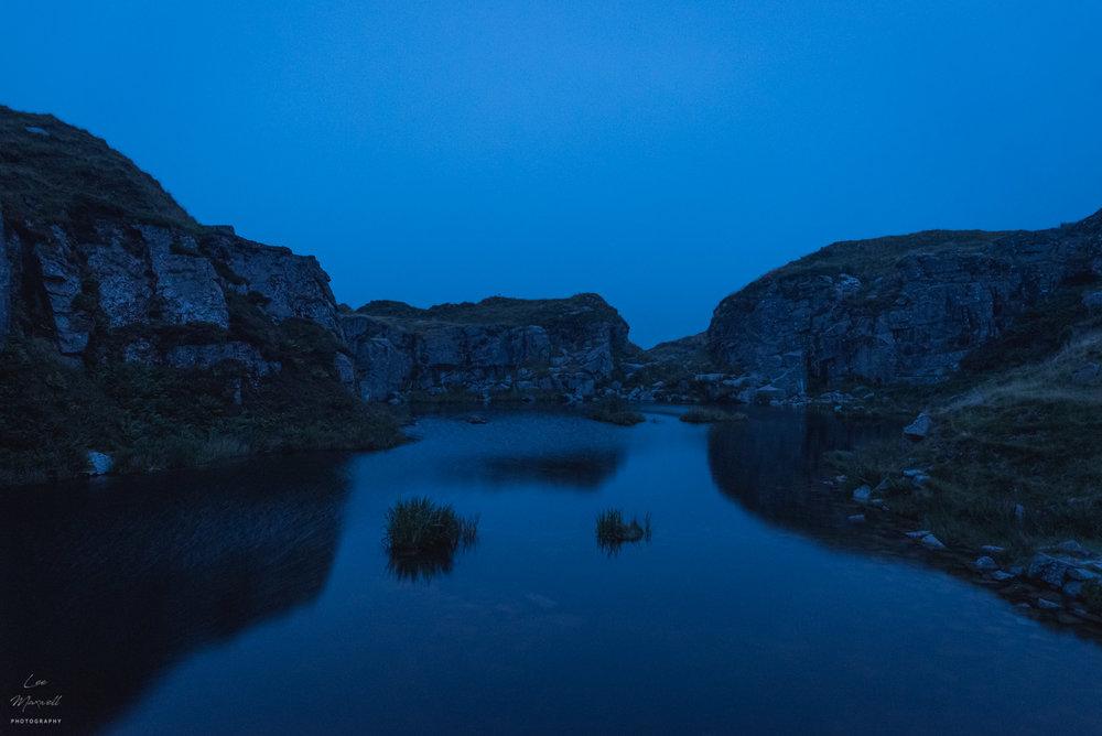 Foggintor Quarry at night