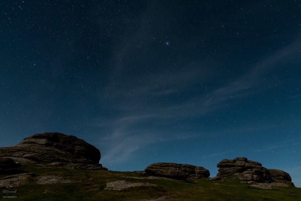Haytor night sky