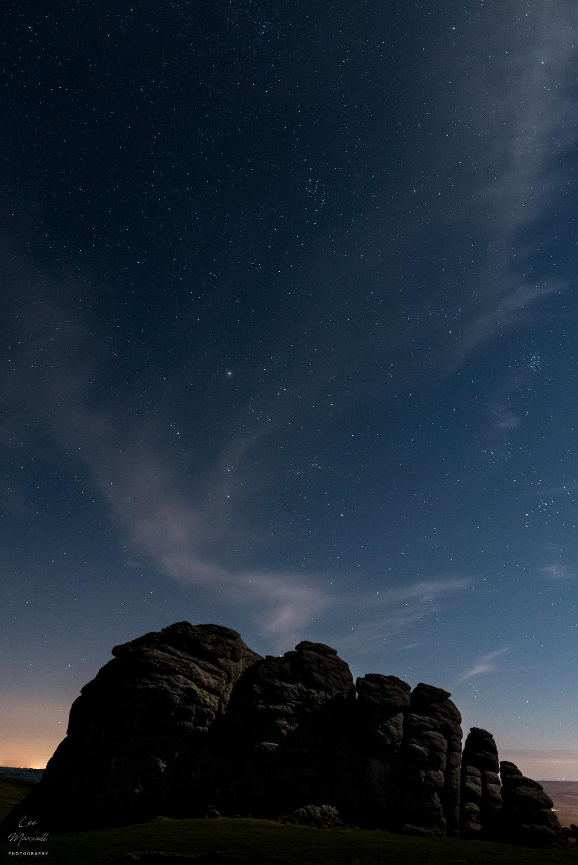 Perseid meteor shower Haytor