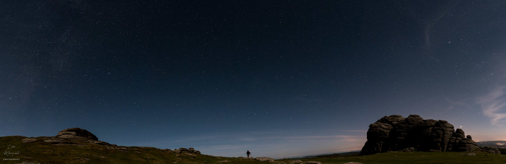 Perseid meteor shower panorama