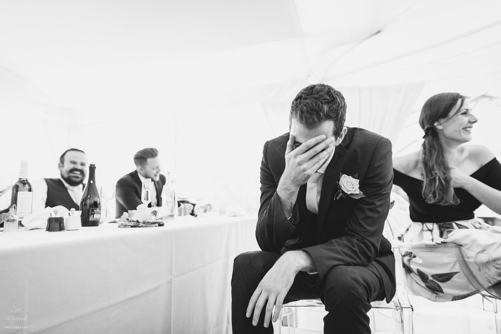 Shocked groomsman