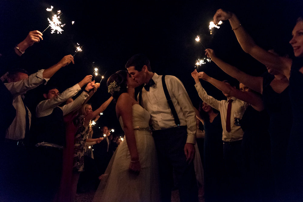 Sparkler Wedding at Cranberries Hideaway