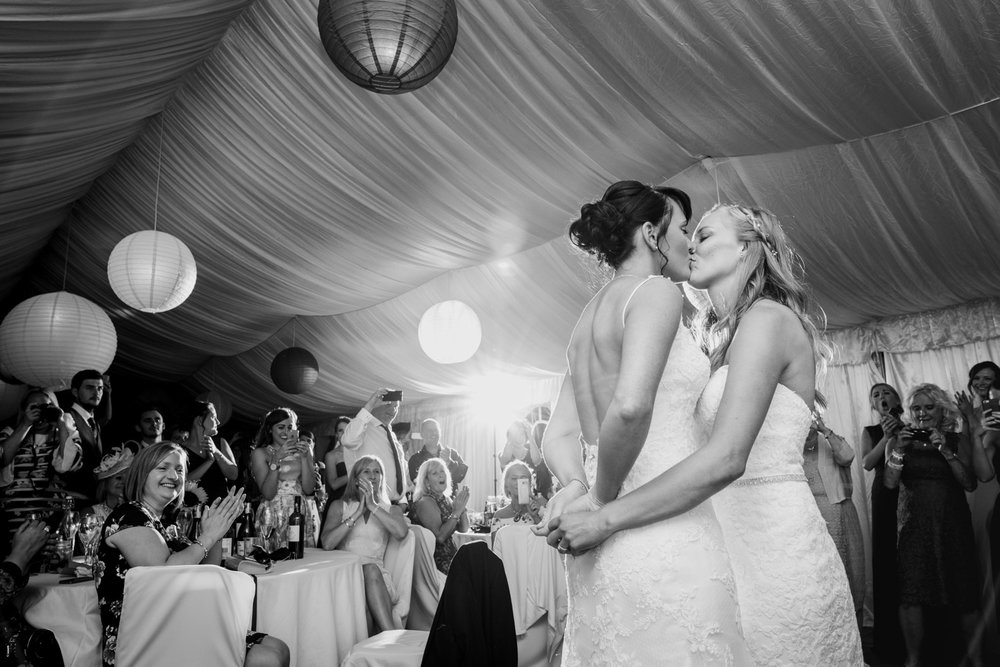 First dance, two brides, at Beaconside House
