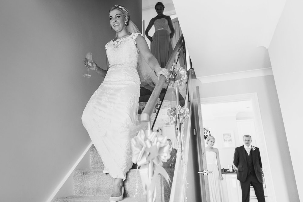Bride makes her entrance to see dad