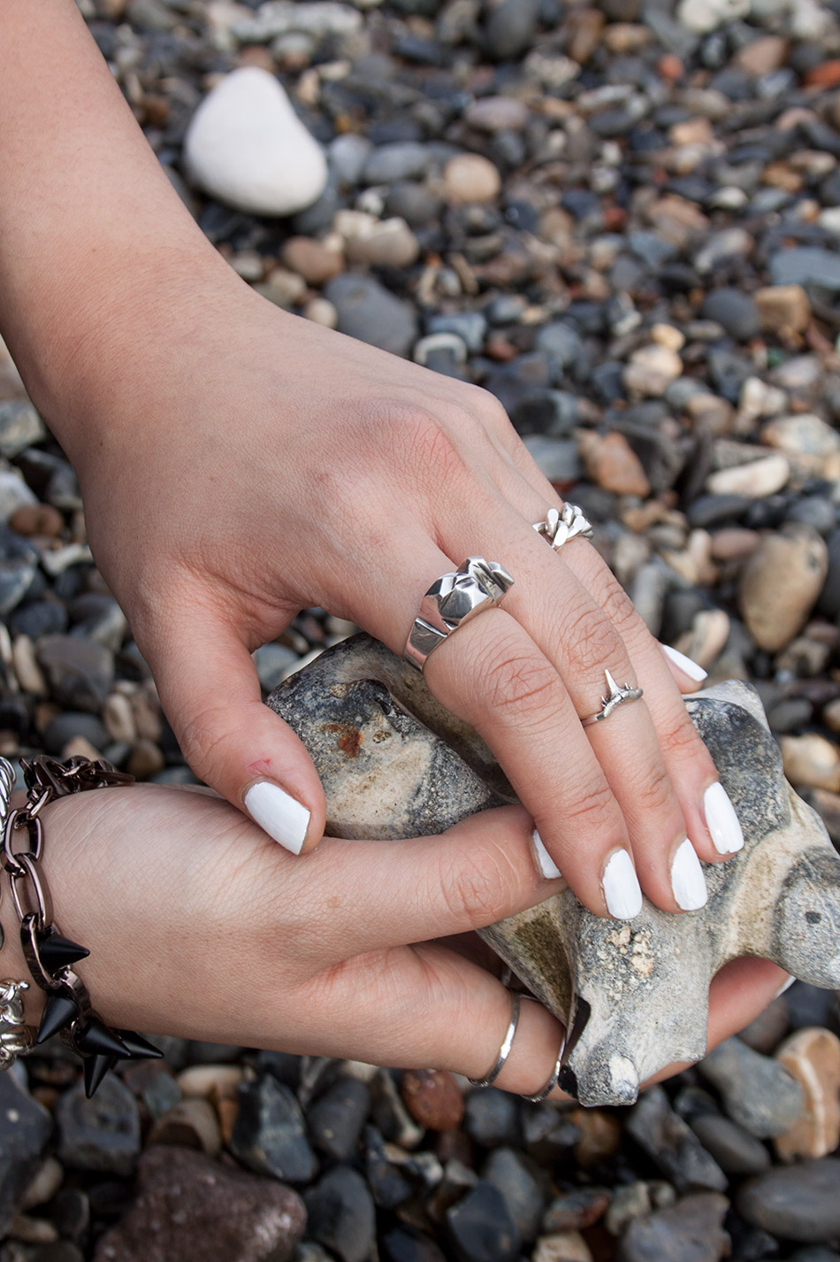 Silver Geode Ring