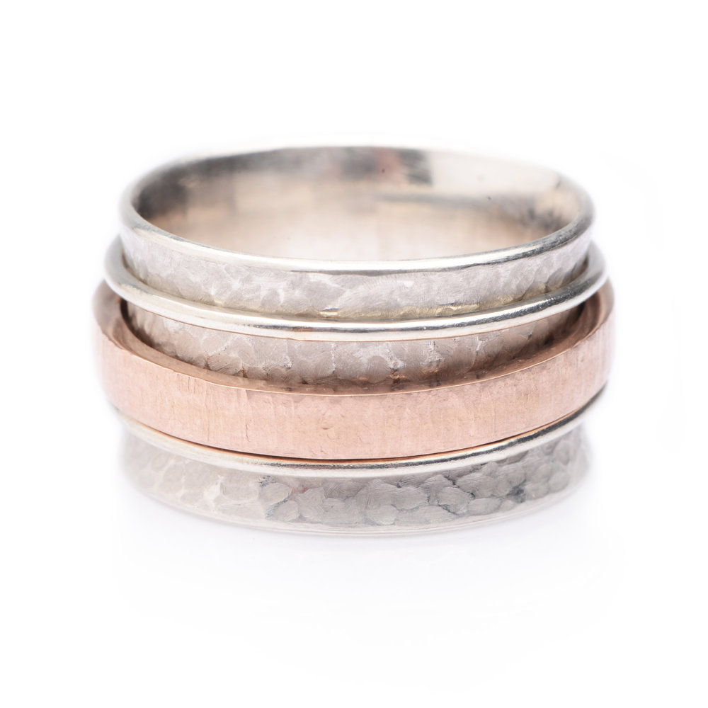 UNIQUE HANDMADE CHUNKY ENGAGEMENT WEDDING RING