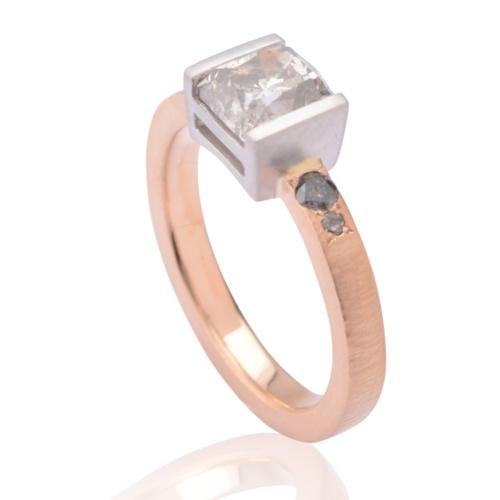 Bespoke Grey Diamond Engagement Ring