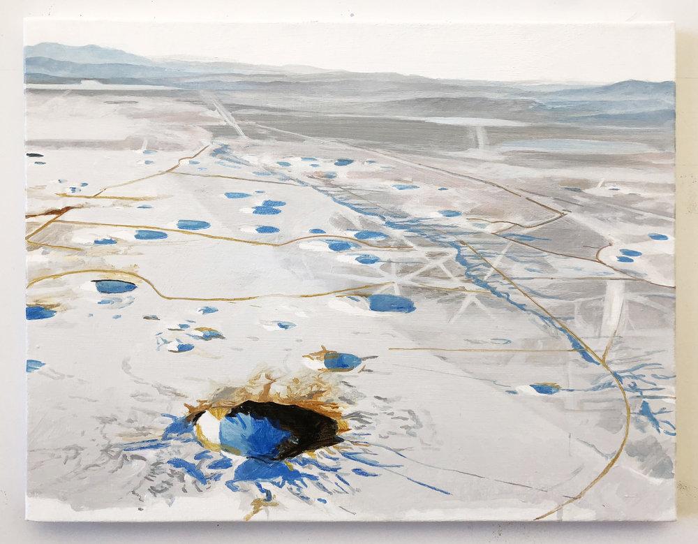 Small Yucca Flat painting