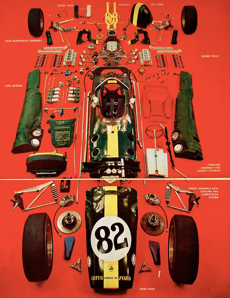 Lotus 49 exploded view
