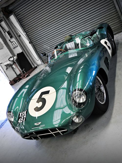 British Racing Green adorns this gorgeous Aston Martin DBR-1