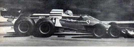 The Ferrari 312 T8 in testing