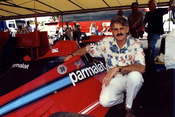 Gordon Murray with his creation