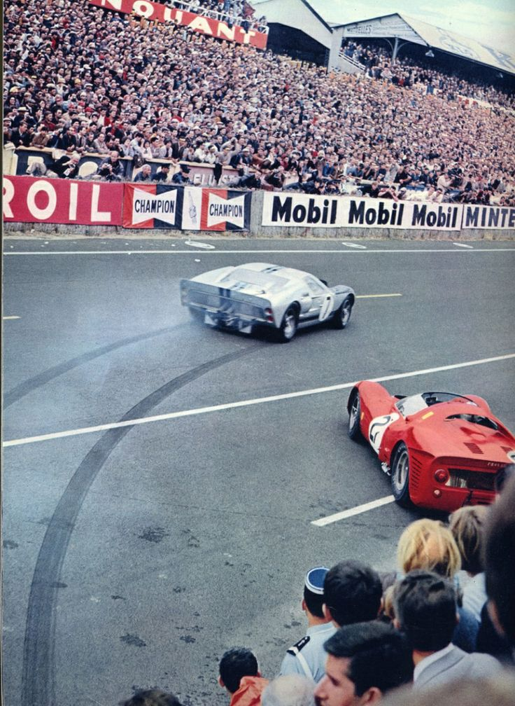 This picture accurately sums up the racing success of the 330 P3/4 versus the GT40