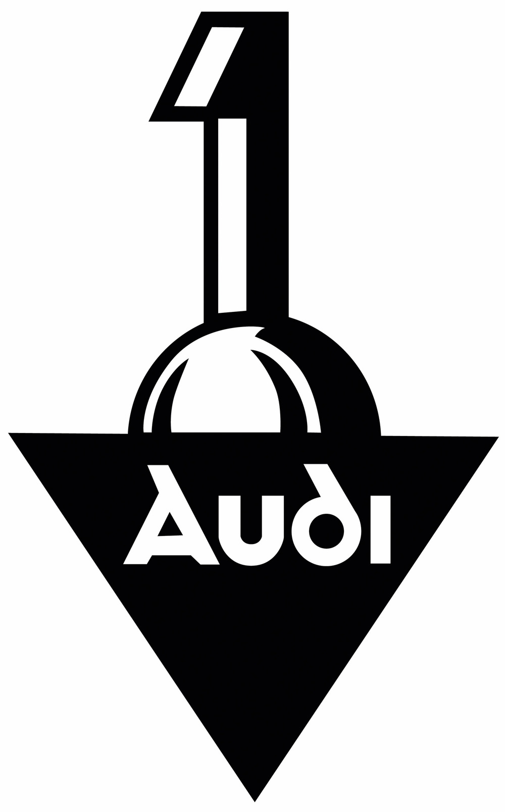 The original Audi logo. Note the typeface.