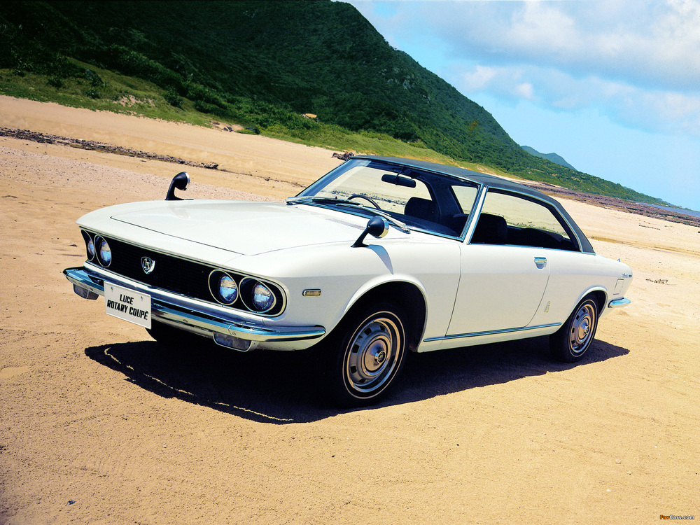 The 1969 Mazda Luce R130 Coupe - virtually identical to the concept.