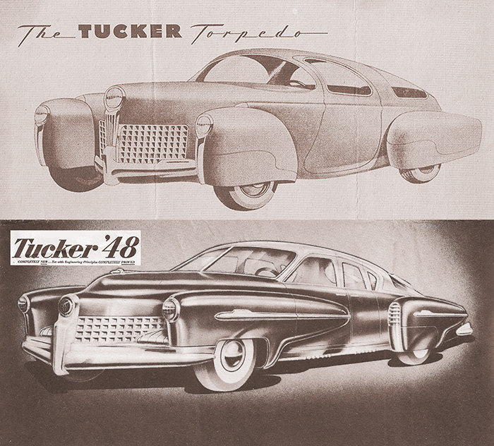 The original Tucker Torpedo sketches, which became the Tucker 48