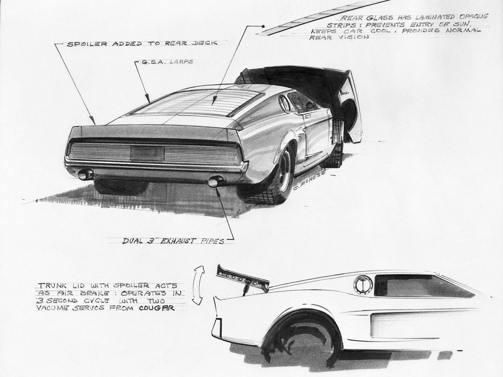 Development sketches for the 1966 Mach I concept
