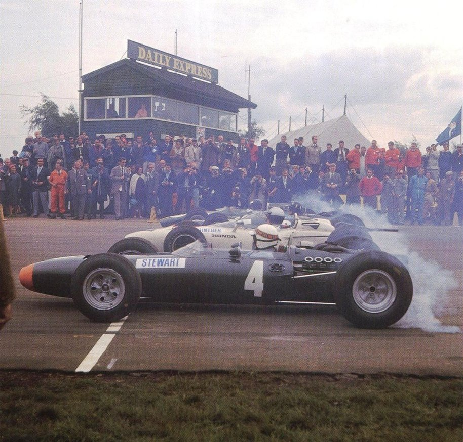 The RA272 launching at the 1965 British Grand Prix