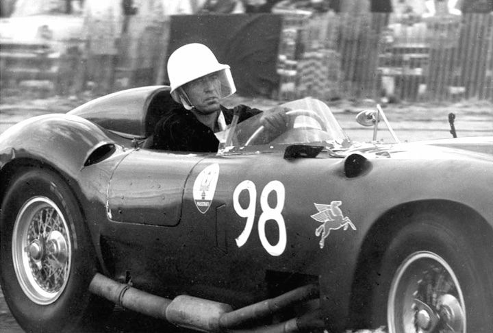 A young Carroll Shelby driving a 450 S