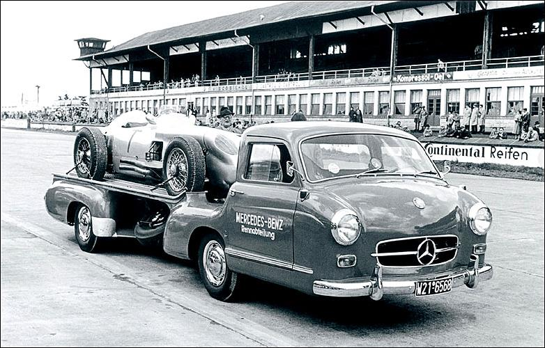 A Photographic History Of Vintage Race Car Transporters