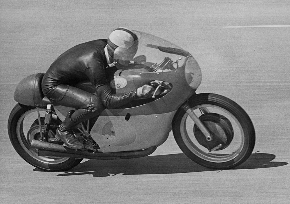 Mikle Hailwood aboard the MV Agusta