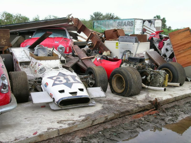 UPDATES ON CARS: An Unfortunate Collection of Abandoned Race Cars ...