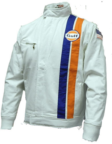 Race Car Jackets >> Historic Style Gulf Racing Jacket — 95 Customs