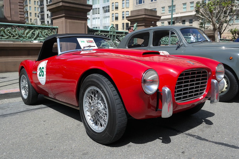 The 1953 Siata 208S driven by Robert Wilder and Catherine Gentry of NY