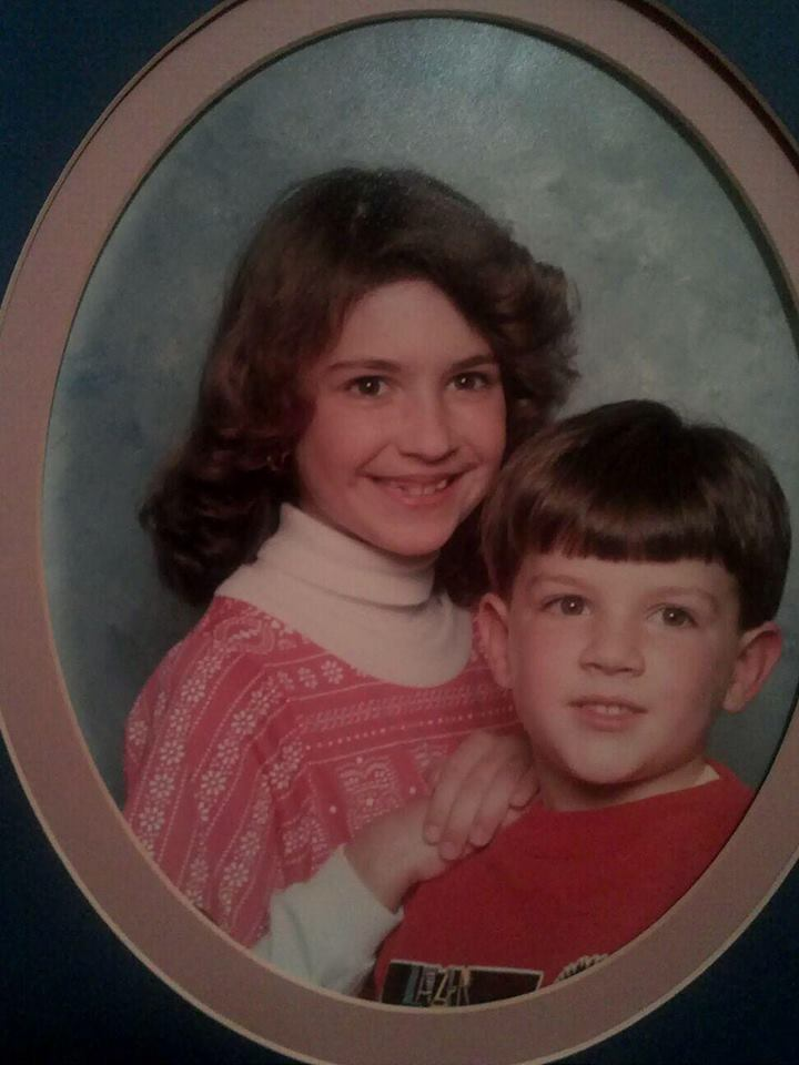 On the other hand, this is an awesome photo for blackmail purposes....  Me and my younger brother, circa 1989.