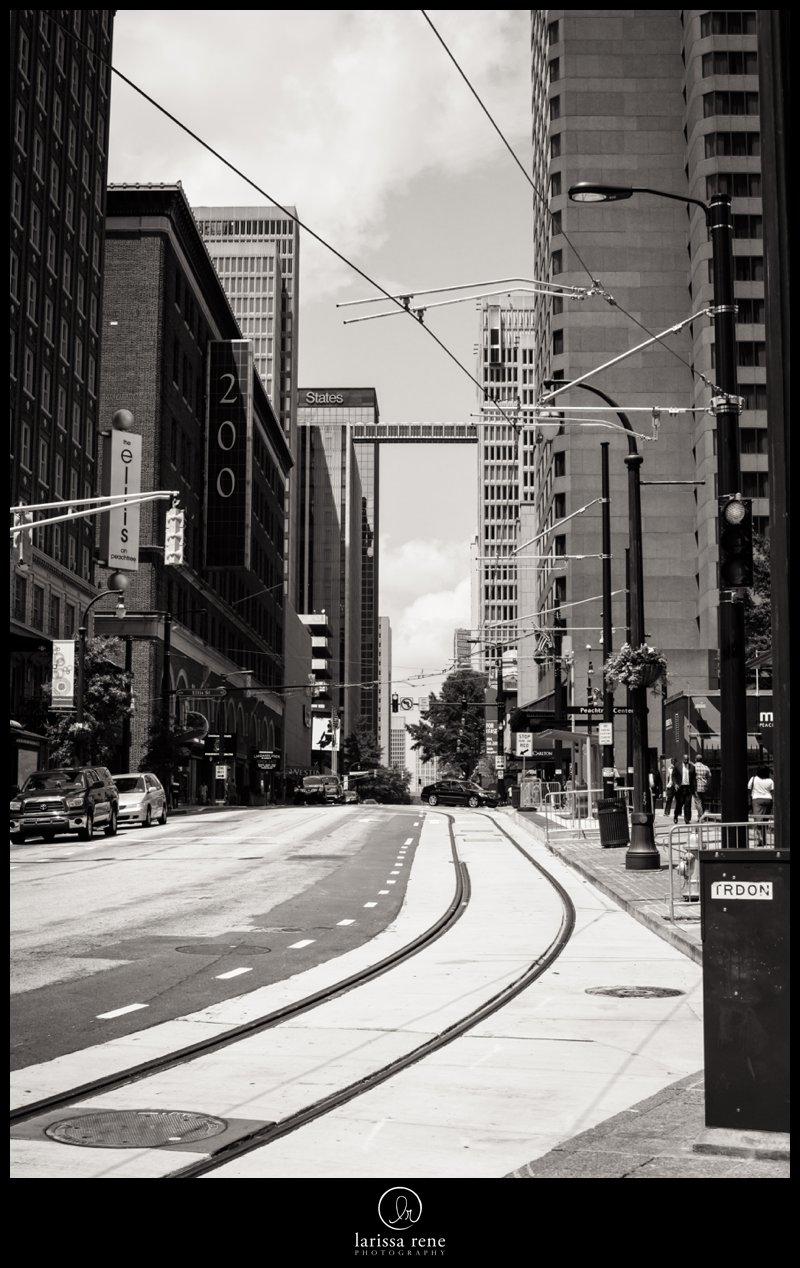 cable car atlanta downtown atlanta black and white photography