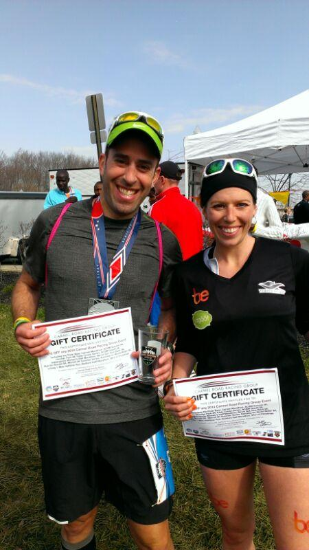 Laurah and husband, Rick.  Rick finished 3rd in his age group.