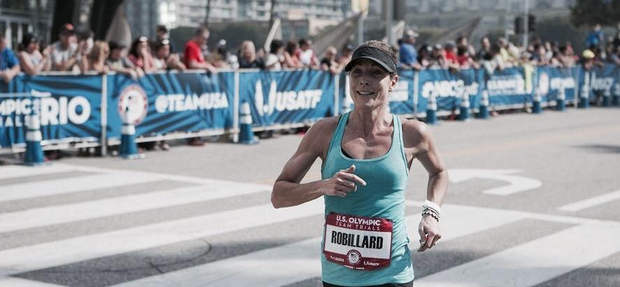 Elite distance runner, Amy Robillard, @ the Olympic Team Trials for the Marathon.