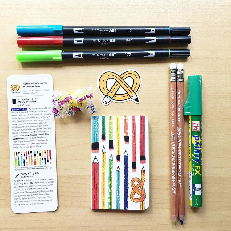 june 2017 artsnacks the best monthly art supply subscription box
