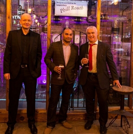 From left to right; Mark Furness, Binder X Lal and Jonathan White, fellow director of Sunbridgewells