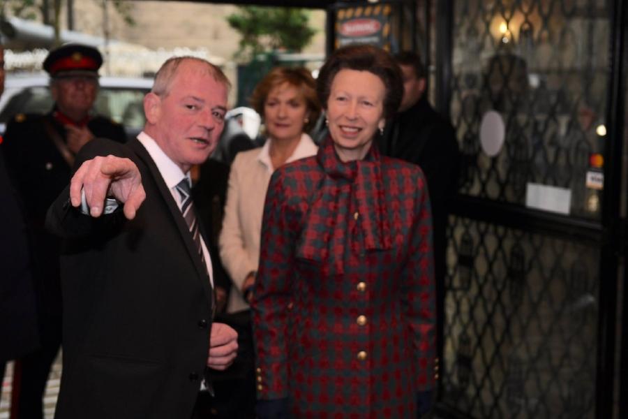 Graham Hall giving Princess Anne the royal tour