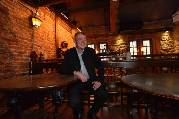 Tunnels developer, Graham Hall, at The Rose and Crown
