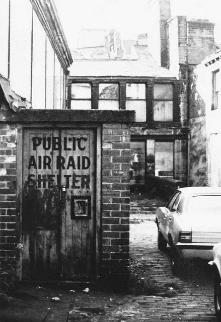 Pictured: public air raid shelter just off Godwin street.