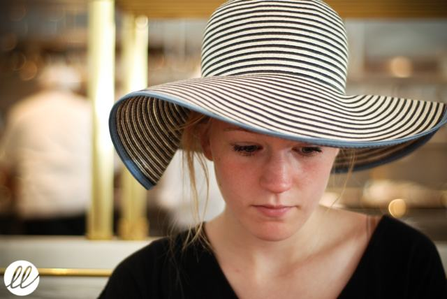 Goorin Bros Hat, striped hat, Bottega Louie, brunch