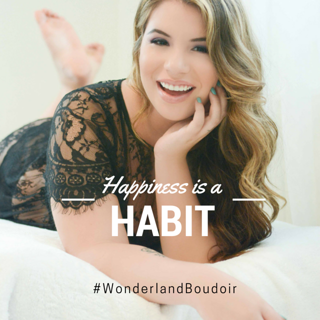 Happiness is a Habit, Dallas Boudoir, Wonderland Boudoir