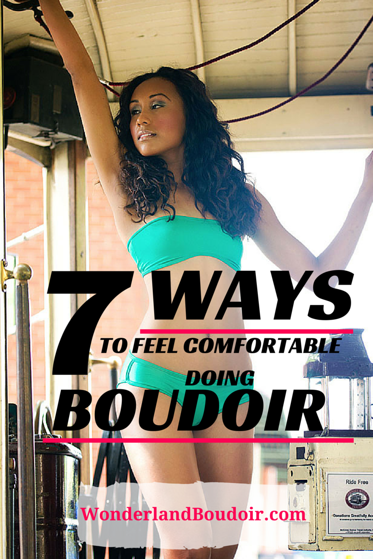 How to feel comfortable in a boudoir session